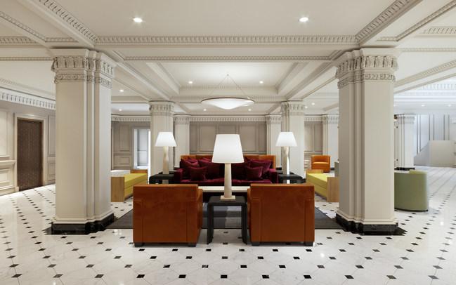 Hamilton Hotel Lobby Rendering