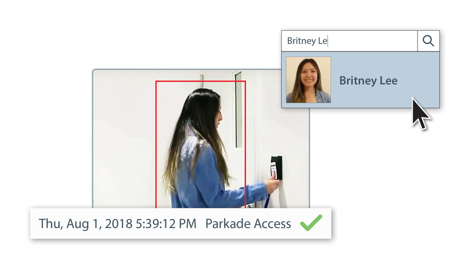 Powerful new Identity Search feature utilizes access control cardholder information with advanced AI and video analytics technology to enhance security. (CNW Group/Avigilon Corporation)