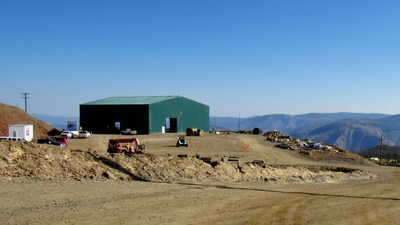 Completed Water Treatment Plant Building (CNW Group/eCobalt Solutions Inc.)