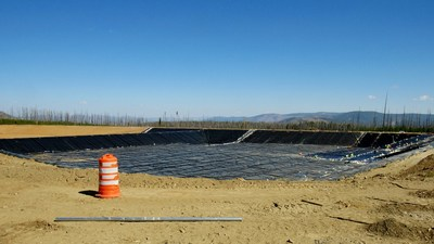 Water Management Ponds Lining Nearing Completion (CNW Group/eCobalt Solutions Inc.)