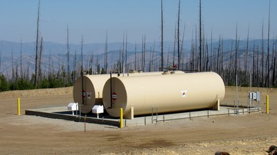 Fuel Island Containment Slab (CNW Group/eCobalt Solutions Inc.)