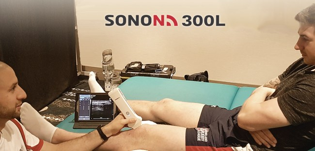 SONON 300L wireless handheld ultrasound can be used easily at the point of care, anywhere - in the office or on the field.