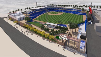 Las Vegas Ballpark conceptual rendering (PRNewsfoto/The Howard Hughes Corporation)