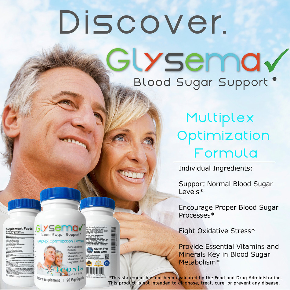Iconis Bioceuticals today announced that it has officially released its newest product, Glysema, into the marketplace. Glysema is a nutritional dietary supplement that supports healthy blood sugar levels through a powerful combination of ingredients. Glysema is now available for purchase on www.amazon.com / www.myiconis.com.