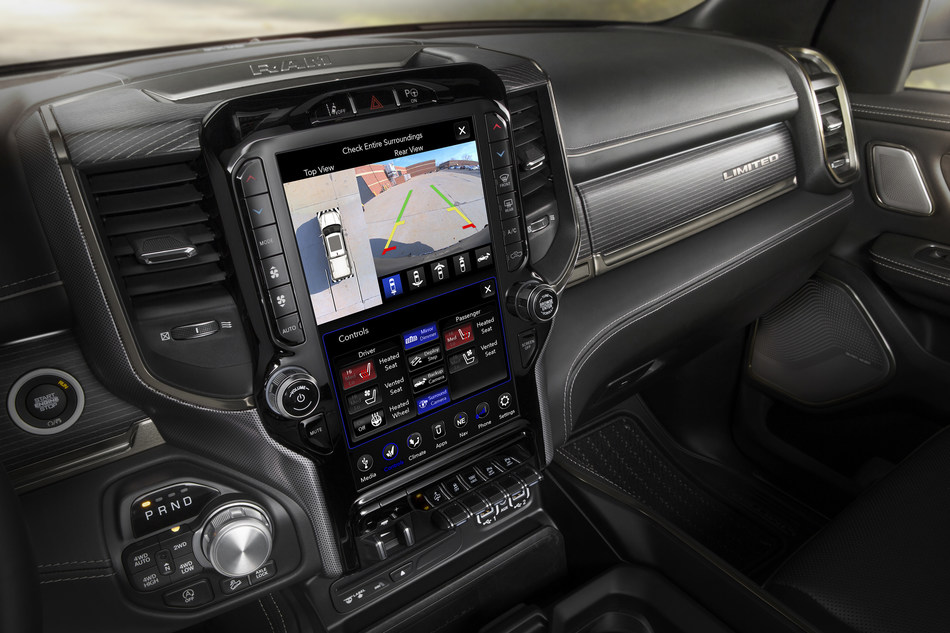 The all-new 2019 Ram 1500 delivers innovative, state-of-the-art technology with award-winning fourth-generation Uconnect system and class-exclusive, 12-inch reconfigurable touchscreen display.