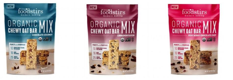 Foodstirs Organic Chewy Oat Bar Mixes