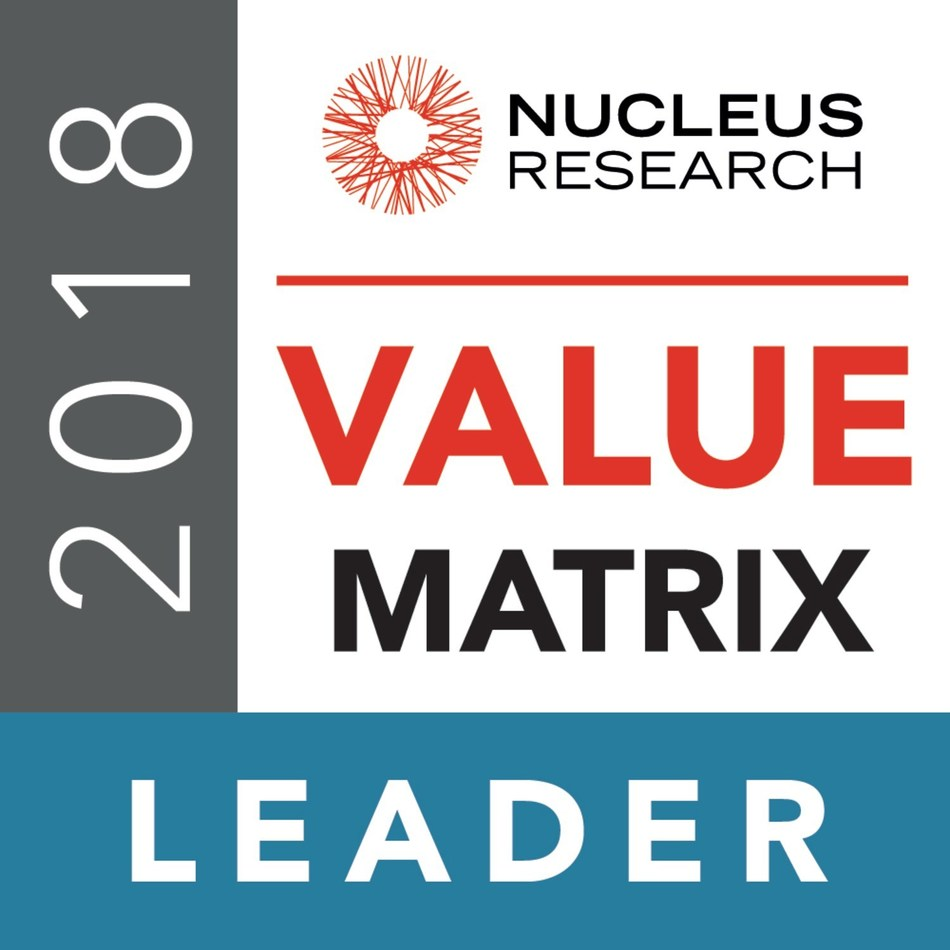 SYSPRO Positioned Again as a Top 3 Leader in New 2018 Nucleus Research ERP Technology Value Matrix as it Moves Up-Market.  Report References New Web-Based UI, Strong Vertical Market Focus, Cloud Deployment and Mobile Customization, Along with IoT and AI Breakthroughs