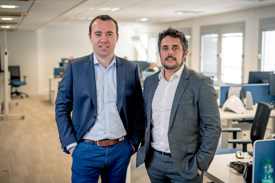 Centreon Co-Founder Romain Le Merlus (right) has assumed the role of CEO, North America, and Co-Founder Julien Mathis (left) has assumed the role of CEO, Europe. (CNW Group/Centreon)
