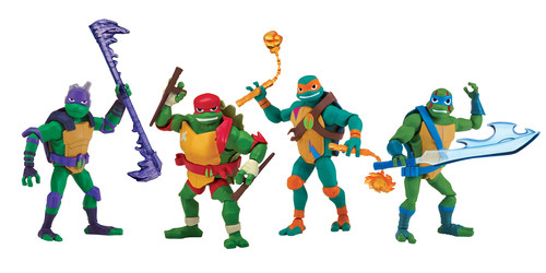 The all-new Rise of the Teenage Mutant Ninja Turtles toy line from Playmates Toys will be available at major retailers starting October 1, 2018.