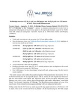Wallbridge intersects 122.35 g/t gold over 2.95 metres and 41.02 g/t gold over 5.52 metres in Newly Discovered Habanero zone (CNW Group/Wallbridge Mining Company Limited)