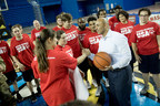 Ambassador Yousef Al Otaiba joined members of Special Olympics USA's basketball and table tennis teams who will be attending the World Games in Abu Dhabi in drills and other activities.