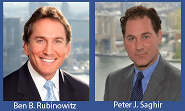 New York Personal Injury Lawyers Ben Rubinowitz and Peter Saghir