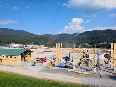 Figure 3. Grinding building steel erection is underway (CNW Group/Lundin Gold Inc.)