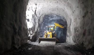 Figure 2. Underground mine development in the Kuri decline (CNW Group/Lundin Gold Inc.)