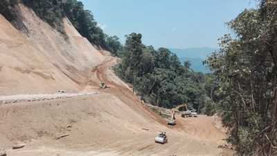 Figure 5. North Access road is expected to be completed by the end of September (CNW Group/Lundin Gold Inc.)