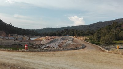 Figure 6. Construction of the Tailings Storage Facility ongoing (CNW Group/Lundin Gold Inc.)