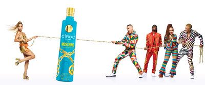The CÎROC X Moschino LIMITED EDITION BOTTLE launches at Milan Fashion as part of the playful collaboration (PRNewsfoto/Ciroc Vodka)