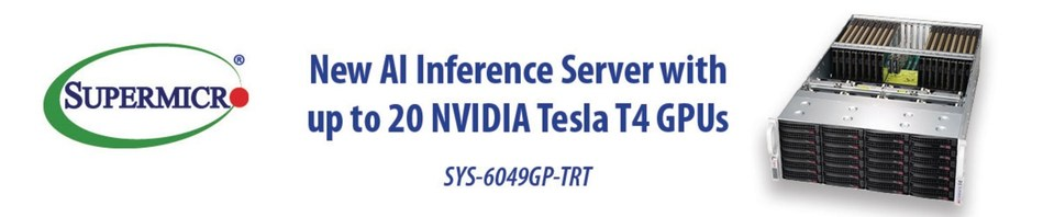 High-Density Supermicro GPU Server Optimized for AI Inference