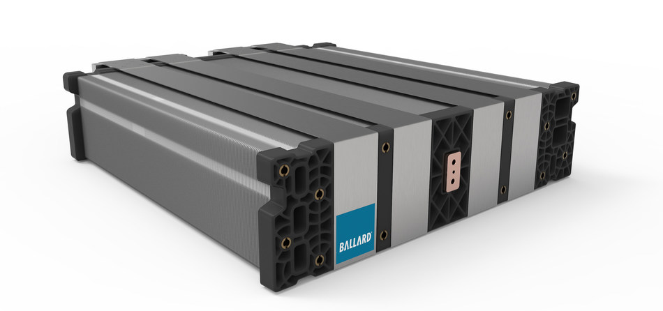 Ballard's new FCgen®-LCS high performance fuel cell stack will provide power for a range of Heavy Duty Motive applications, including buses, commercial trucks and trains (CNW Group/Ballard Power Systems Inc.)