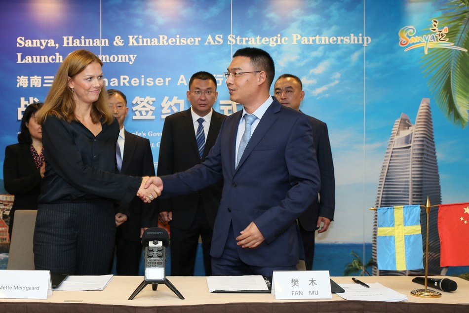 Sanya Tourism Development Commission and KinaReiser AS sign Memorandum of Understanding