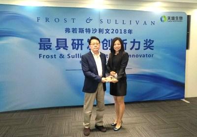 "I-Mab Wins Frost & Sullivan ""2018 Best R&D Innovator Award (Biopharma Category)"""
