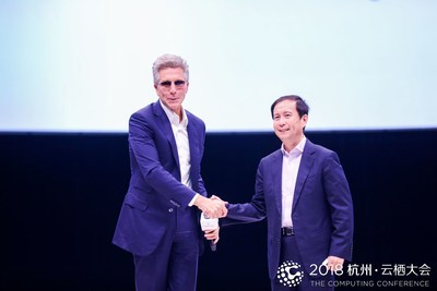 SAP CEO Bill McDermott and Alibaba CEO Daniel Zhang announced a strategic partnership today Sep. 19, 2018 at the Alibaba Computing Conference in Hangzhou, China.