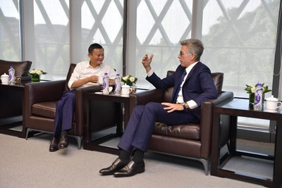 Alibaba Executive Chairman Jack Ma and SAP CEO Bill McDermott meet today Sep. 19, 2018 at the Alibaba Computing Conference in Hangzhou, China