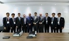 Representatives from Steelhead LNG, Huu-ay-aht First Nations, Hyundai Heavy Industries and the B.C. Provincial government at Gastech 2018 in Barcelona, Spain. (CNW Group/Steelhead LNG)