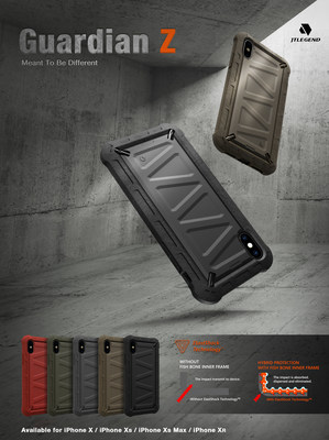 JTLegend releases iPhoneXs/Xs Max/ XR Guardian Z case of Aesthetic Design & Ultimate Protection