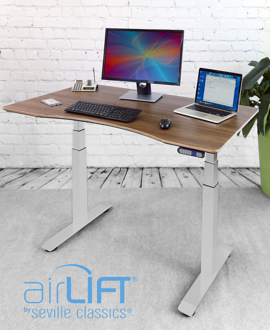 Seville Classics® AIRLIFT® S3 Electric Standing Desk