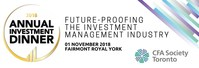 2018 Annual Investment Dinner (CNW Group/CFA Society Toronto)