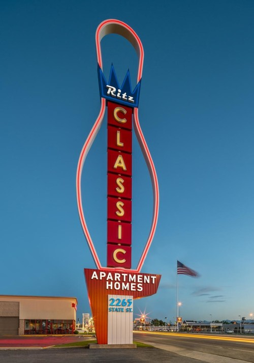 Ritz Classic Apartment iconic sign wins award