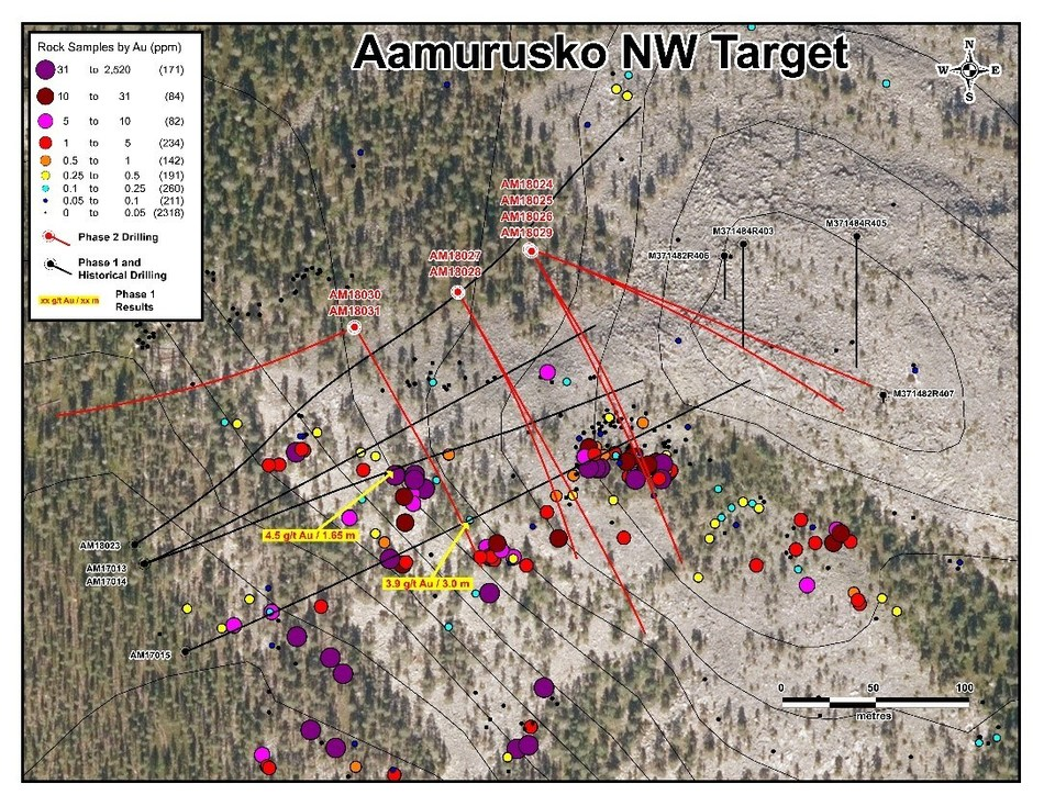 Aamurusko NW Target (CNW Group/Aurion Resources Ltd.)