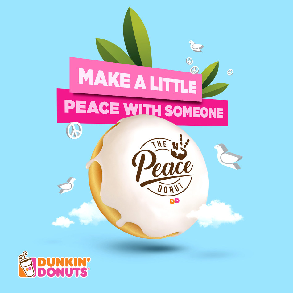 'Make a little peace with someone' (PRNewsfoto/Dunkin Donuts UAE)