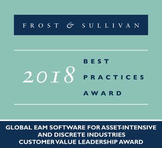 2018 Global EAM Software for Asset-Intensive and Discrete IndustriesCustomer Value Leadership Award (PRNewsfoto/Frost & Sullivan)