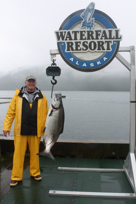 "Tony Perkins wins $10,000 for the largest king salmon in the Waterfall Resort Alaska King Of Kings 30th annual tournament. In addition, he wins a return trip and a $500 Cabela's gift certificate. Tony is among 22 winners for the 2018 season. ""I've looked forward to this trip with my work colleagues every year for 3 years, and I had never fished before that first year,"" shares Tony. ""What a great win in addition to the pure fun of just being there."""