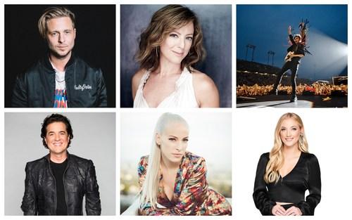 (L-R) Ryan Teddar, Sarah McLachlan, Arkells' Max Kerman, Scott Borchetta, Marie-Mai, and Liz Trinnear confirmed for Season 2 of CTV's THE LAUNCH (CNW Group/CTV)