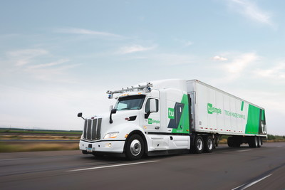 TuSimple autonomous truck runs on the highway