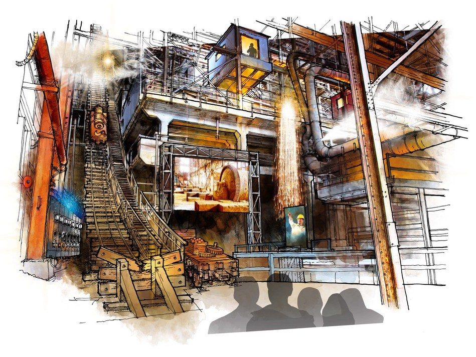 Concept designs of the Britannia Mine Museum's new Mill experience show (launches Spring 2019) (CNW Group/Britannia Mine Museum)