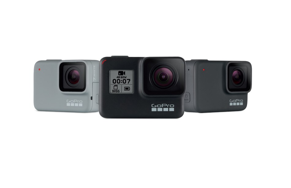 Meet the all-new GoPro HERO7 lineup. HERO7 Black has 'HyperSmooth' video stabilization that sets a new bar for digital imaging and features Live Streaming, TimeWarp Video, SuperPhoto, improved audio, and face, smile and scene detection. Plus, the $299 HERO7 Silver and $199 HERO7 White round out the new product lineup.