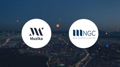 Muzika logo (left), NEO Global Capital logo (right)