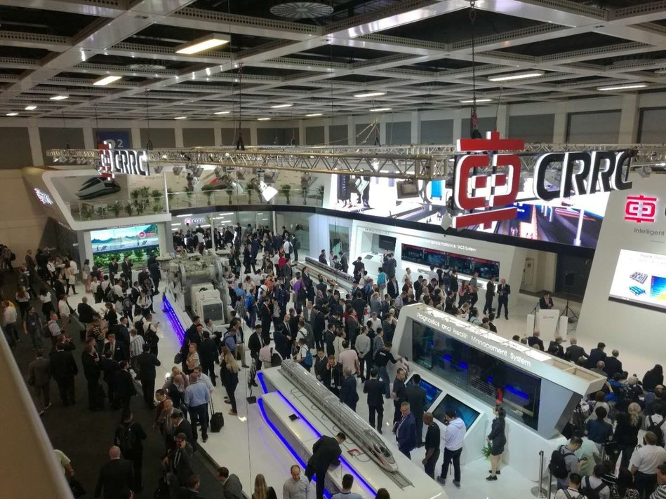 CRRC unveils three new locomotives, metro car and a high-speed train at InnoTrans 2018