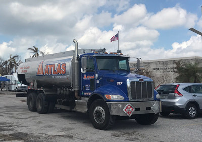 Atlas Oil's emergency fueling assets at a USPS Post Office during the 2017 hurricane season.