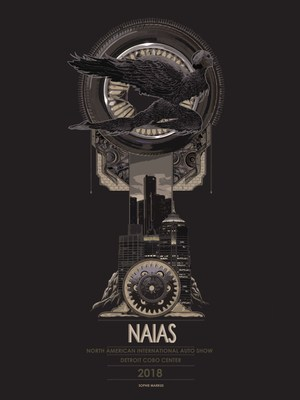 Chairmen's Award and Designer's Best of Show for 2018 NAIAS Poster Contest.