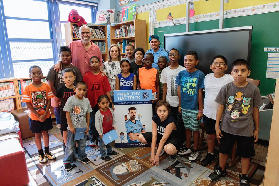 To celebrate the renewal of Goya's multi-year partnership, NYCFC and Goya launched a brand new version of the Healthy Hat-Trick curriculum for the new school year and hosted a youth soccer clinic with NYCFC defender Ronald Matarrita on Wednesday, September 19, 2018 at P.S. 49 in the Bronx.