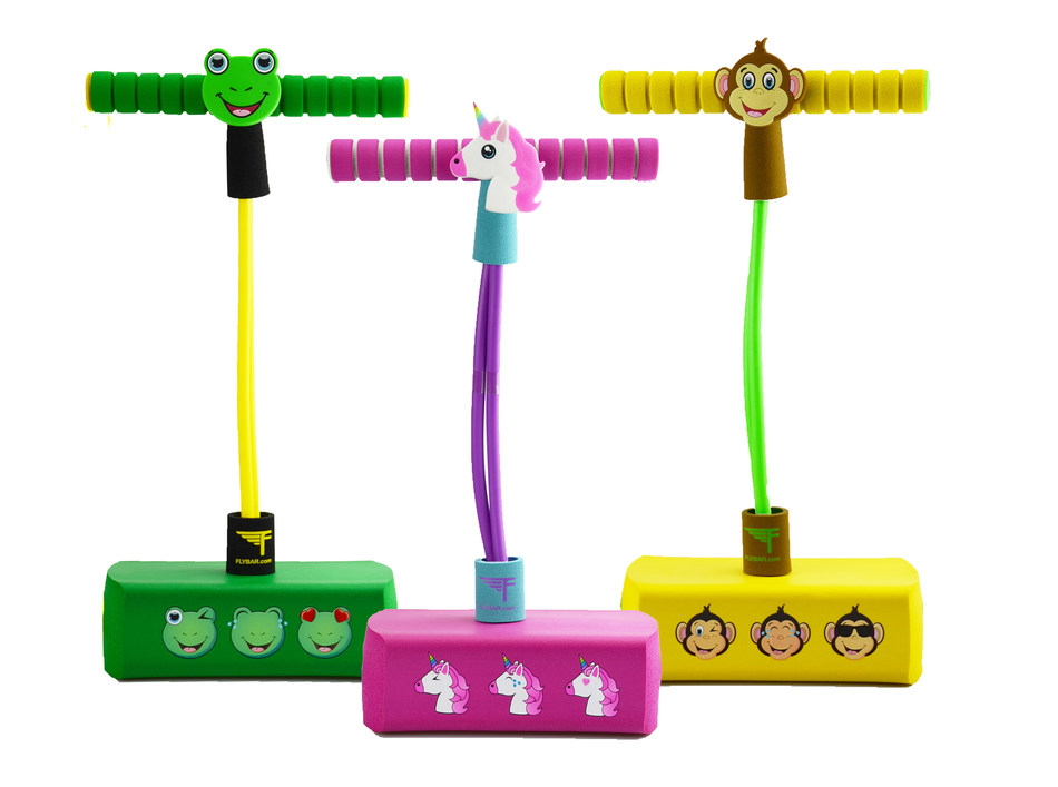Flybar, the original and world's largest pogo stick company, offers fun and bouncy gift items for Holiday 2018 including the new My First Flybar Pogo Pals that introduce little ones as young as three to the fun of bounce.
