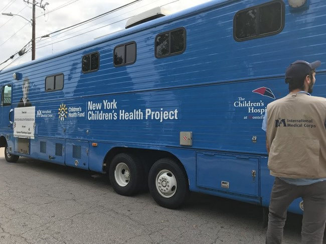 International Medical Corps will staff a mobile medical clinic with a team comprising physicians, nurses and support staff.