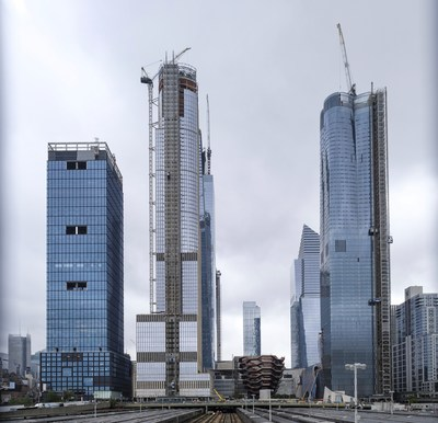 thyssenkrupp Elevator provides Hudson Yards with up to 40 TWIN elevators. Hudson Yards in NYC is the largest private real estate development in the history of the United States and the largest development in NY since Rockefeller Center/ Credits: thyssenkrupp Elevator/FP (PRNewsfoto/thyssenkrupp elevator AG)