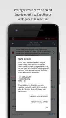 Les clients peuvent instantanément verrouiller et déverrouiller leur carte de crédit CIBC depuis leur appareil mobile (Groupe CNW/Banque Canadienne Impériale de Commerce)