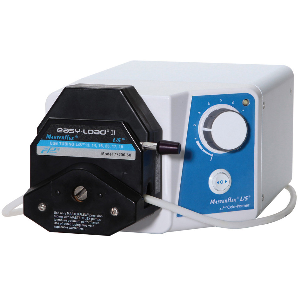 The Masterflex L/S Variable-Speed Console Drive has a flow range of 0.42 to 2900 mL/min, and is ideal for general fluid transfer applications.